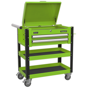 Sealey Heavy-Duty Mobile Tool & Parts Trolley 2 Drawers & Lockable AP760MHV