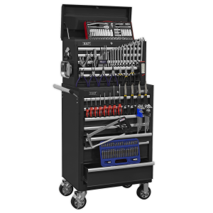 Sealey Topchest & Rollcab Combination 15 Drawer with Ball Bearing S APCOMBOBBTK58