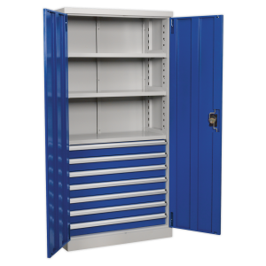 Sealey Industrial Cabinet 7 Drawer 3 Shelf 1800mm