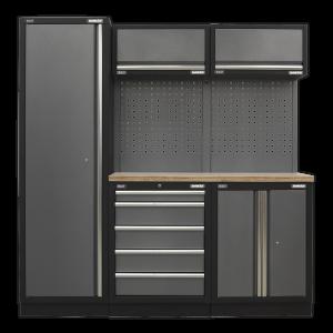Sealey Modular Storage System Combo - Pressed Wood Worktop APMSSTACK02W