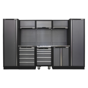 Sealey Modular Storage System Combo - Stainless Steel Worktop APMSSTACK03SS