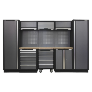 Sealey Modular Storage System Combo - Pressed Wood Worktop APMSSTACK03W