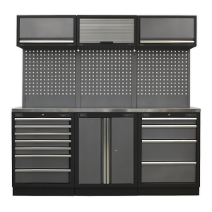 Sealey Modular Storage System Combo - Stainless Steel Worktop APMSSTACK07SS