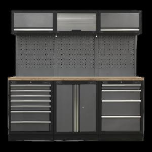 Sealey Modular Storage System Combo - Pressed Wood Worktop APMSSTACK07W