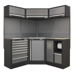 Sealey Modular Storage System Combo - Stainless Steel Worktop APMSSTACK08SS