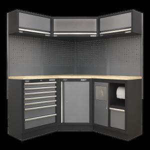 Sealey Modular Storage System Combo - Pressed Wood Worktop APMSSTACK08W