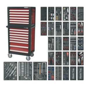 Sealey Topchest & Rollcab Combination 14 Drawer with Ball Bearing S APTTC02