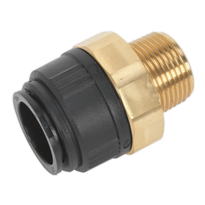 "Sealey Straight Adaptor 28mm x 1""BSPT Brass (John Guest Speedfit® -"