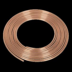 """Sealey Brake Pipe Copper Tubing 22 Gauge 3/16"""" x 25ft BS EN 12449 C"""