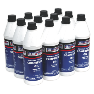 Sealey Compressor Oil 1L - Pack of 12