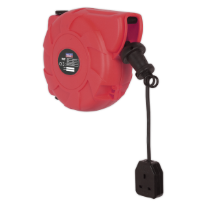 Sealey Cable Reel System Retractable 10m 1 x 230V Socket