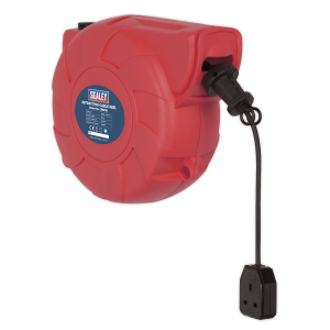 Sealey Cable Reel System Retractable 15m 1 x 230V Socket