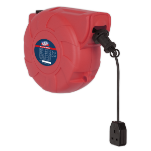 Sealey Cable Reel System Retractable 25m 1 x 230V Socket