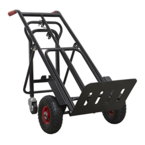 Sealey Heavy-Duty 3-in-1 Sack Truck with PU Tyres 300kg Capacity