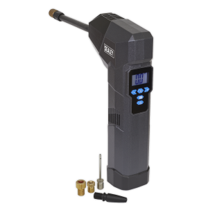 Sealey Compact Rechargeable Tyre Inflator & Powerbank with Work Lig