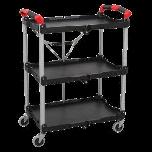 Sealey Folding Workshop Trolley 3-Level