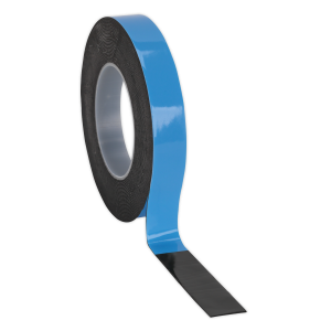 Sealey Double-Sided Adhesive Foam Tape 19mm x 5m Blue Backing