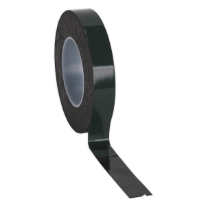 Sealey Double-Sided Adhesive Foam Tape 25mm x 10m Green Backing