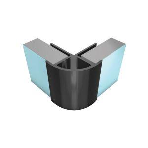 Splashpanel PVC External Corner Black 2400mm