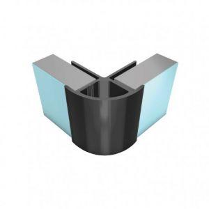 Splashpanel PVC External Corner Silver 2400mm