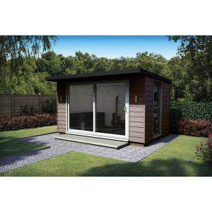 Eurocell Kyube Metal Frame Garden Room - Patio Doors & Side Window