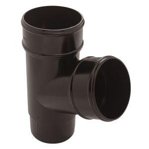 Eurocell - Gutter Round Pipe Branch 112 Deg 68mm Black