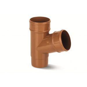Eurocell - Gutter Round Pipe Branch 112 Deg 68mm Clay Brown