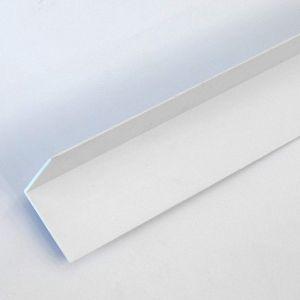 Eurocell - 40mm X 40mm Oak On White Rigid Angle X 5m
