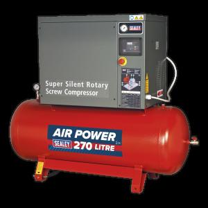 Sealey Screw Compressor 270L 10hp 3ph Low Noise