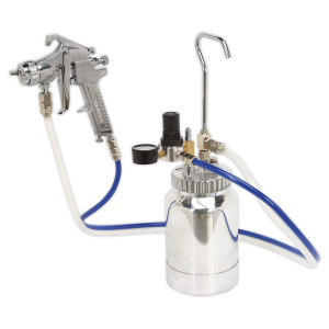 Sealey Pressure Pot System with Spray Gun & Hoses 1.8mm Set-Up