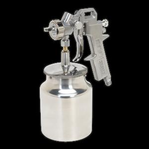 Sealey Spray Gun Suction Feed General Purpose 1.5mm Set-Up