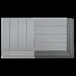 AB Fusion Decking Tile Anthracite Corner Kit