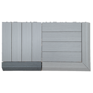 AB Fusion Decking Tile Grey Straight Joiner