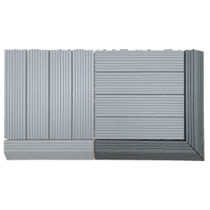 AB Fusion Decking Tile Grey Corner Kit