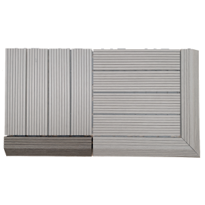 AB Fusion Decking Tile Walnut Straight Joiner