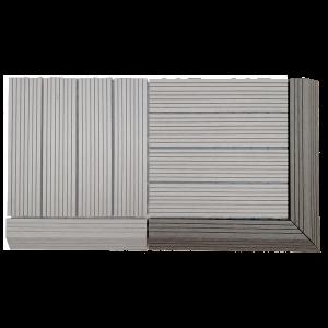 AB Fusion Decking Tile Walnut Corner Kit