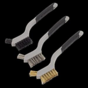 Sealey Wire Brush Set 3pc Miniature
