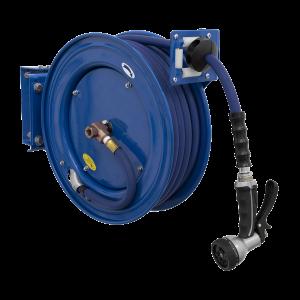 Sealey Heavy-Duty Retractable Water Hose Reel 15m Ø13mm ID Rubber Hose