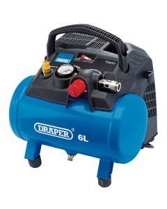 Draper - 6L Oil-Free Air Compressor (1.2kW)