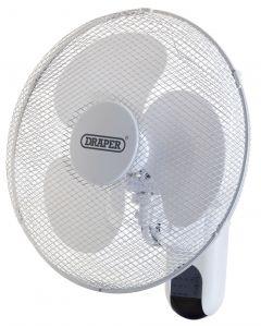 "Draper - Wall Mounted Remote Control Fan 16"" (400mm)"