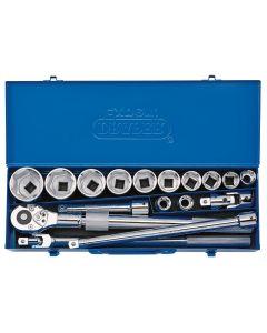 "Draper - 3/4"" Sq. Dr. Metric Socket Set in Metal Case (17 Piece)"
