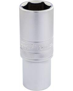 """Draper - 1/2"""" Sq. Dr. 6 Point Metric Deep Socket (22mm)"""