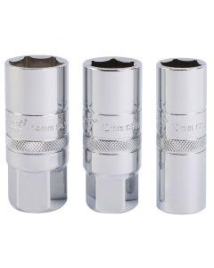 "Draper - 1/2"" Sq Dr Set of Spark Plug socket (3 Piece)"