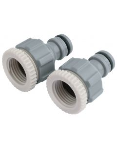 """Draper - Twin Pack of Tap Connectors (1/2"""" and 3/4"""")"""