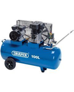 Draper - 100L Belt-Driven Air Compressor (2.2kW)