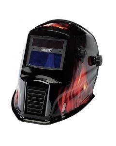 Draper - Solar Powered Auto-Varioshade Welding and Grinding Helmet-Flame