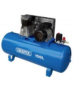 Draper - 150L Stationary Belt-Driven Air Compressor (2.2kW)