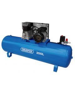 Draper - 200L Stationary Belt-Driven Air Compressor (2.2kW)