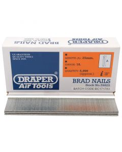 Draper - 25mm Brad Nails (5000)