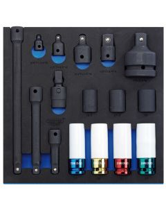 "Draper - 1/2"" Sq. Dr. Impact Socket Set in 1/2 Drawer EVA Insert Tray (16 Piece)"